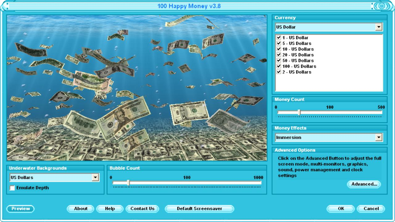 Falling 3d money screen saver with dollar and euro money money screensaver free money screensaver gumiabroncs Gallery