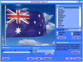Australia Screensaver - Animated Australian Flag, Free Wallpaper