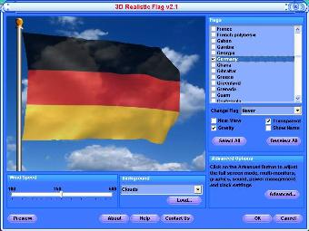 Animated Germany Flag Screensaver and Free Desktop Background