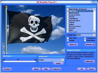 animated jolly roger pirate flag screensaver and free desktop background