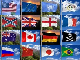 Waving Flag Screen Saver - Free 3D Animated Flags Download