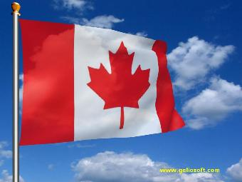 Canadian flag flying in the wind free vector in adobe illustrator.