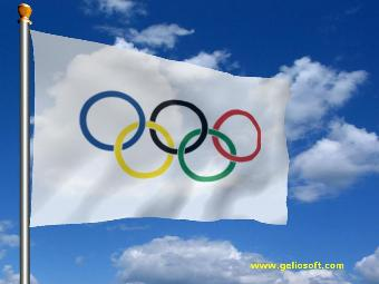 Animated Olympic Flag Screensaver and Free Desktop Background