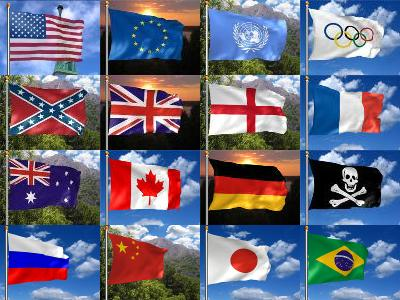 Click to view 3D Realistic Flag Screensaver 2.27 screenshot