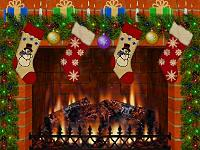 Christmas fireplace screensavers