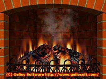 Virtual Fireplace Screen Saver