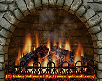 Captura de pantalla de Fireplace 3D Screen Saver 2.5