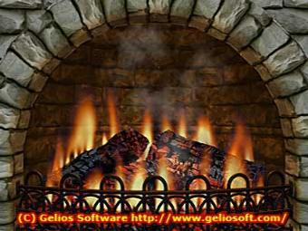 Stone Fire Place Background