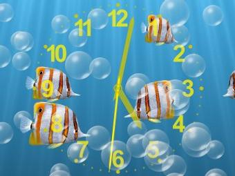 Overview Of Underwater Clock Bubbles Screen Saver