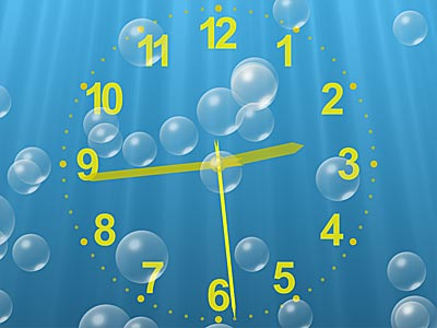Click to view Underwater Clock Bubbles Screensaver 1.23.4 screenshot